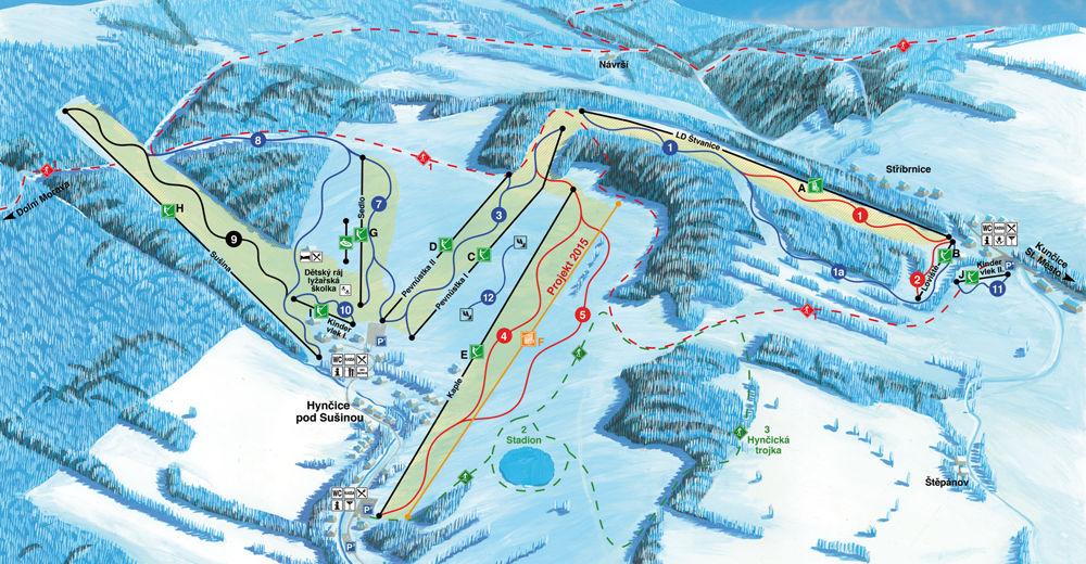 Piste map Ski resort Kraličák