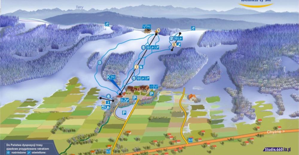 Plan de piste Station de ski Beskid-Spytkowice