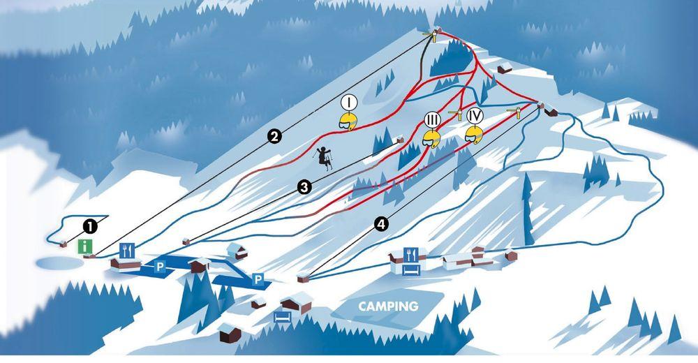 Plan de piste Station de ski Hochlitten Riefensberg