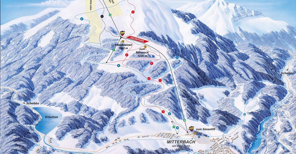 Plan skijaških staza Skijaško područje Gemeindealpe