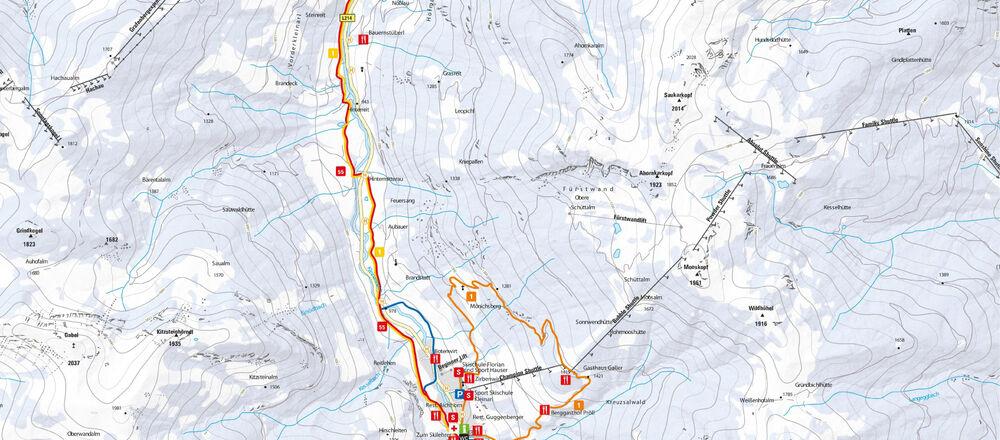 Loipenplan Wagrain - Kleinarl - Ski amade