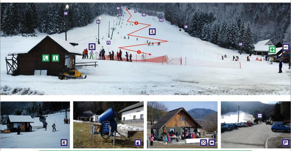 План лыжни Лыжный район Izver - Sodražica