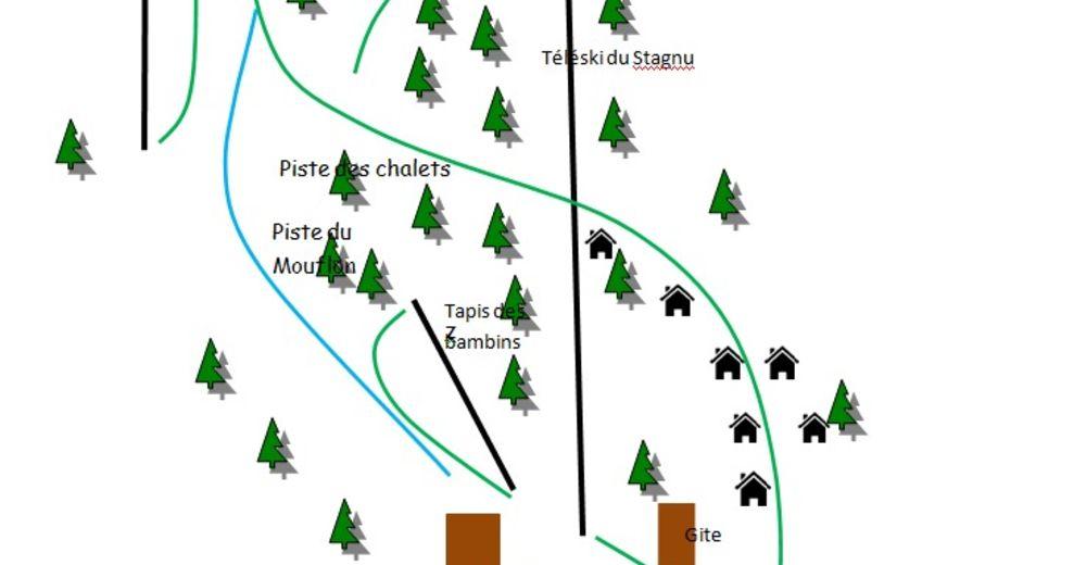 Plan skijaških staza Skijaško područje Haut Asco