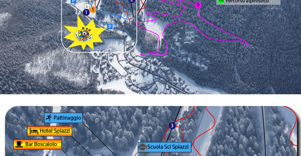 Piste map Ski resort Spiazzi di Gromo / Boario