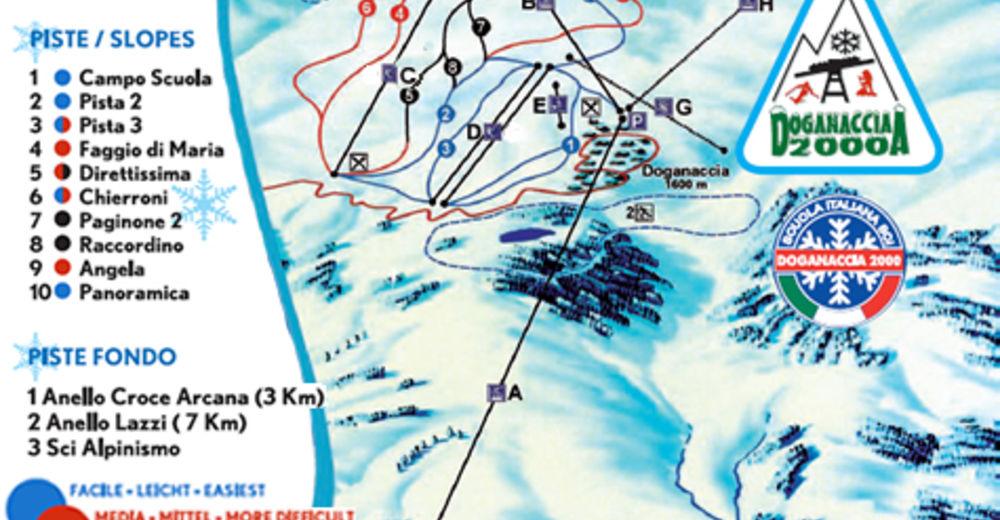 Pisteplan Skiområde Doganaccia / Cutigliano