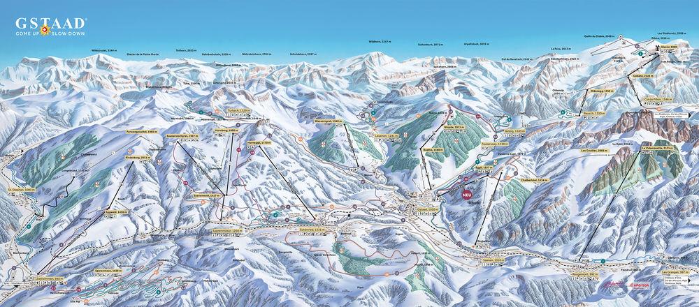 Loipenplan Destination Gstaad