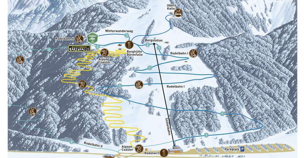 Bakkeoversikt Skiområde Alpsee Bergwelt