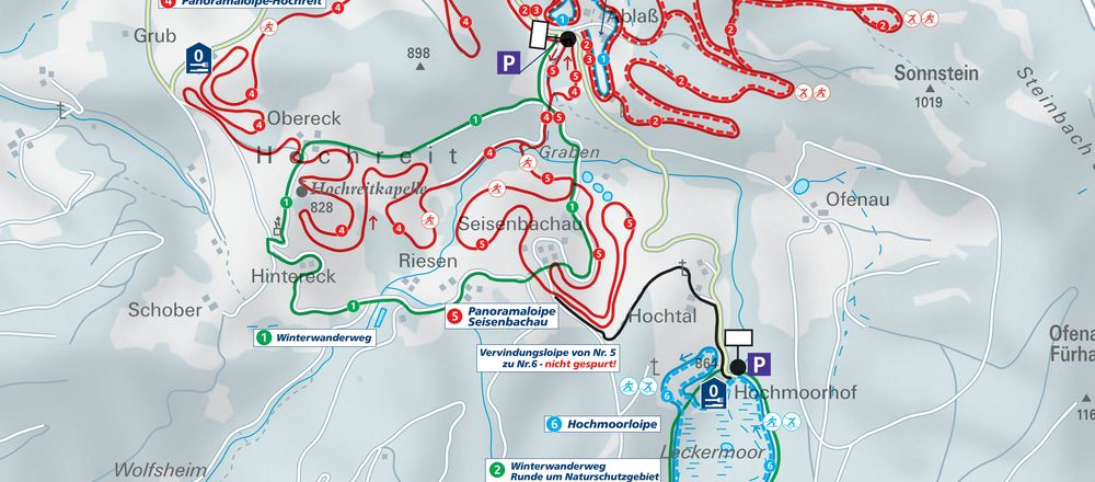 Loipenplan Langlaufzentrum Hochreit