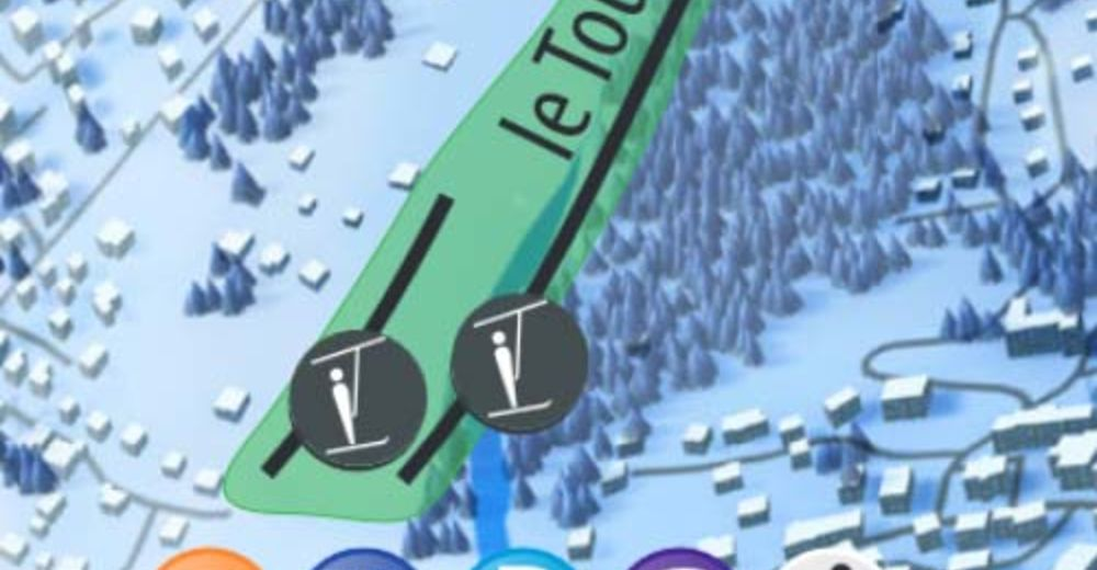 Piste map Ski resort Tourchet - Les Houches