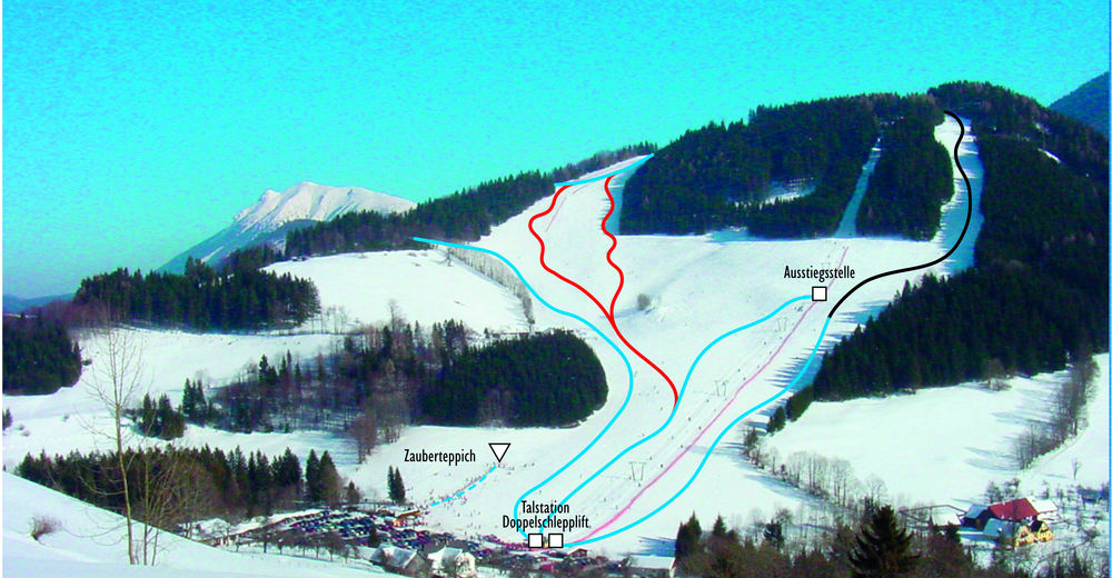 Piste map Ski resort Lunz am See - Maiszinken