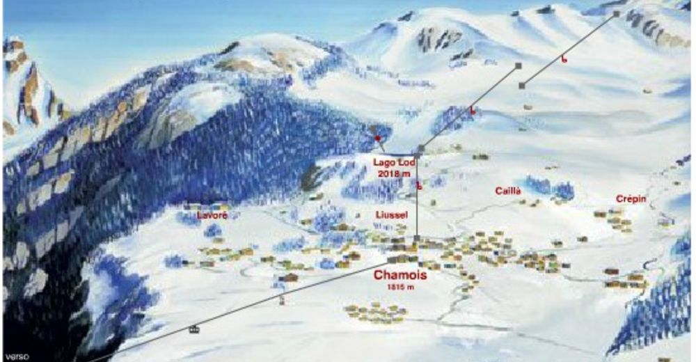 Piste map Ski resort Chamois