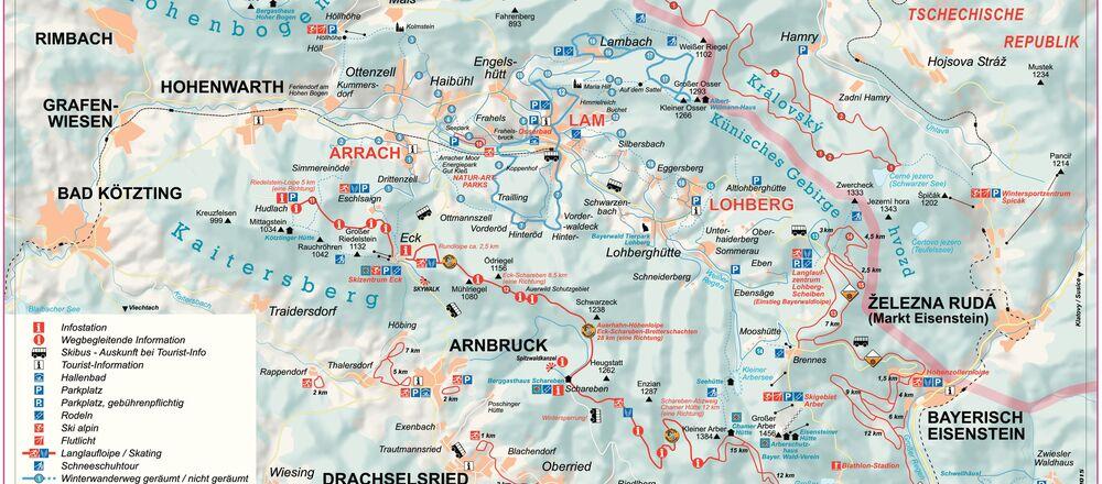 Loipenplan Arrach-Eck-Riedelstein