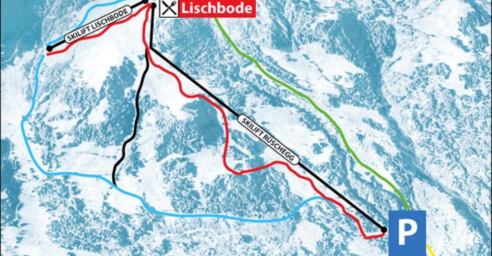 План лыжни Лыжный район Rüschegg - Eywald