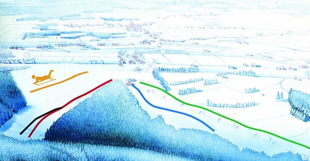 Planul pistelor Zonă de schi Ovifat