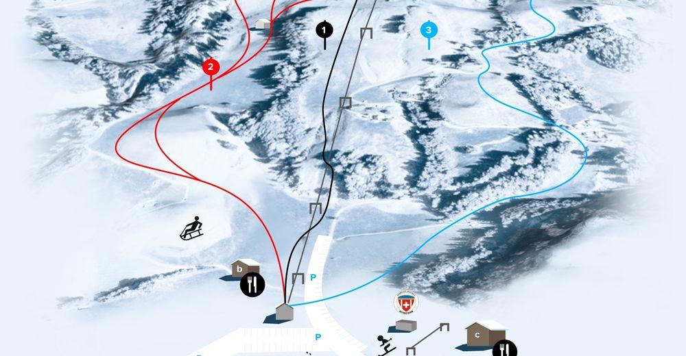 Pistenplan Skigebiet Neusell