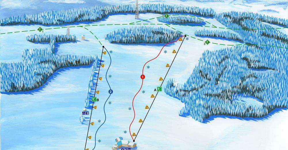 Mappa delle piste Comparto sciistico Olešnice