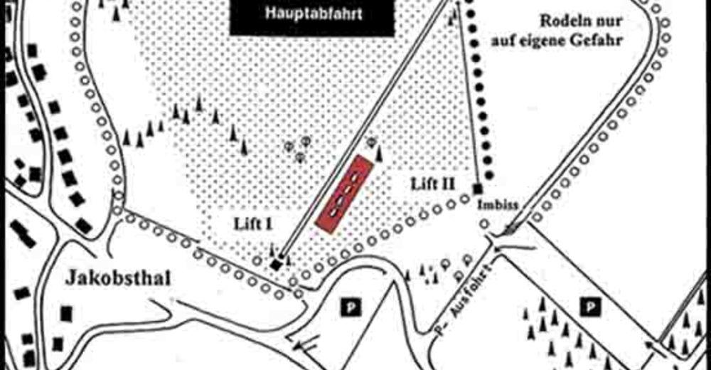 Pistenplan Skigebiet Jakobsthal / Skilifte am Engländer