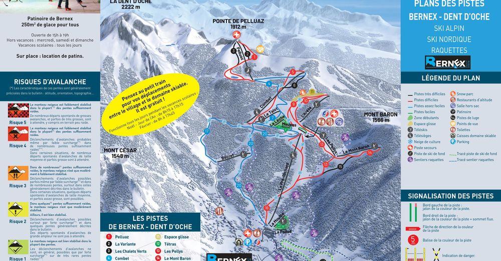 Plan de piste Station de ski Bernex