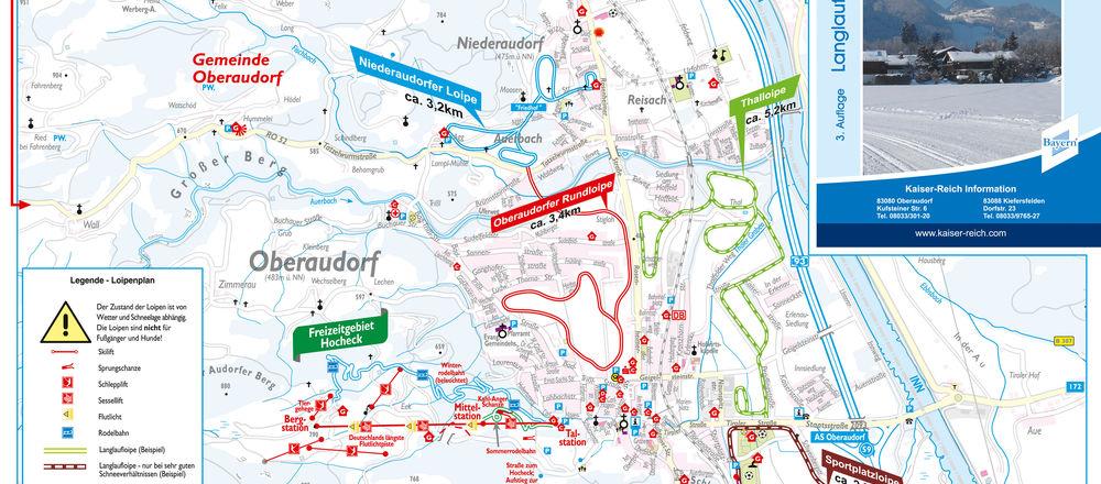 Loipenplan Oberaudorf Hocheck