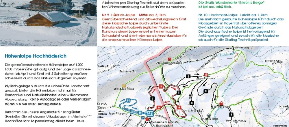 Loipenplan Alpenarena Hochhäderich