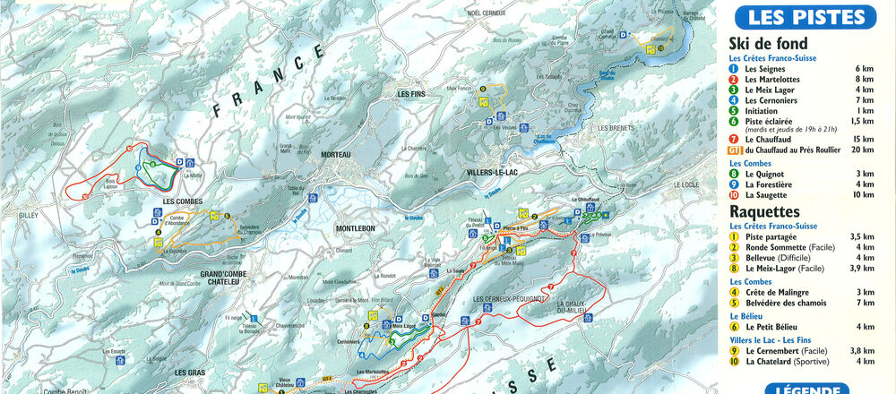 Loipenplan Val de Morteau