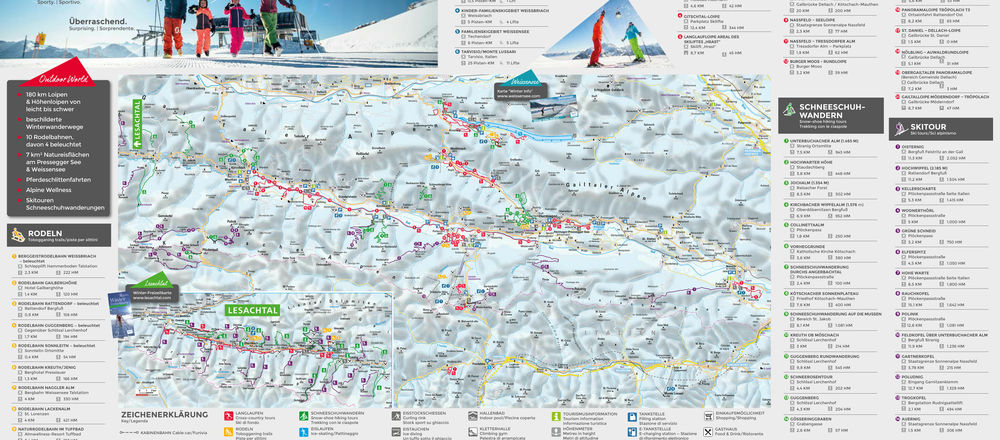 Loipenplan Nassfeld - Pressegger See