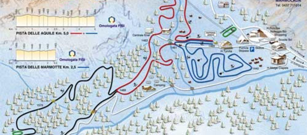 Loipenplan Marmolada Gletscher