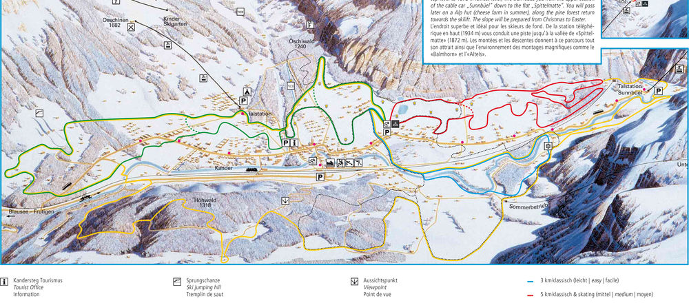 Loipenplan Kandersteg