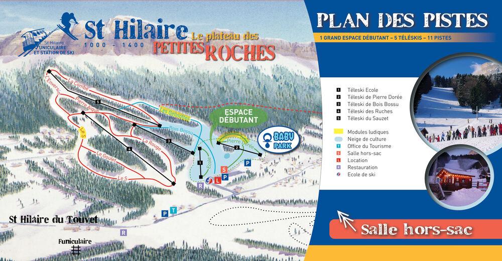Pistenplan Skigebiet St Hilaire du Touvet
