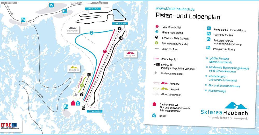 Piste map Ski resort Heubach