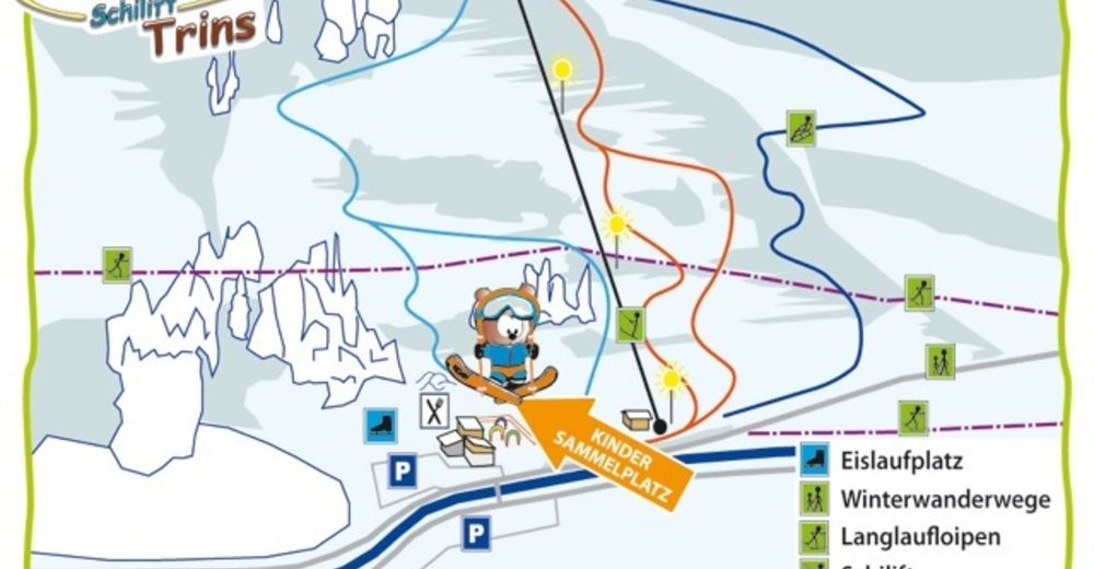Piste map Ski resort Trins - Wipptal