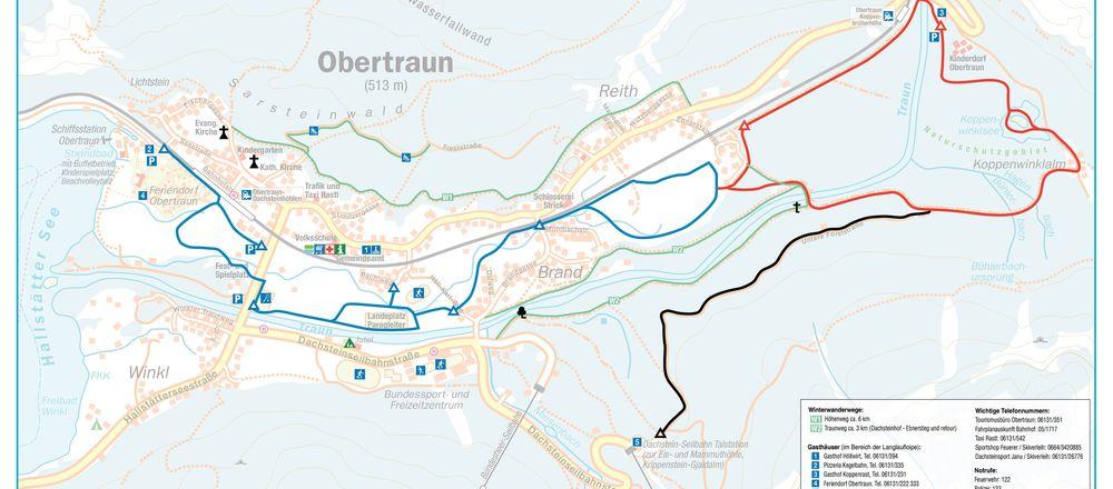 Loipenplan Krippenstein / Obertraun