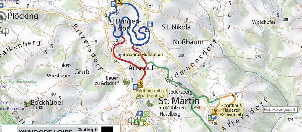 Loipenplan St. Martin