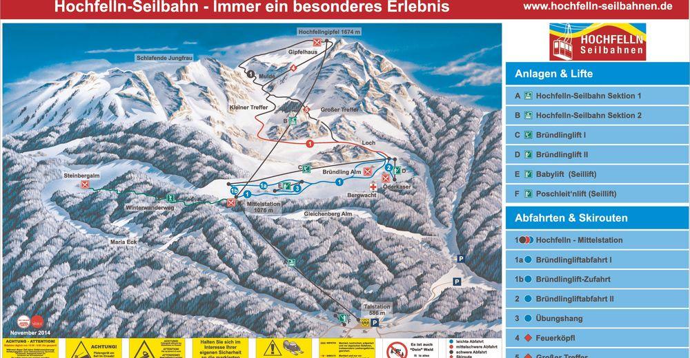 Plan skijaških staza Skijaško područje Hochfelln