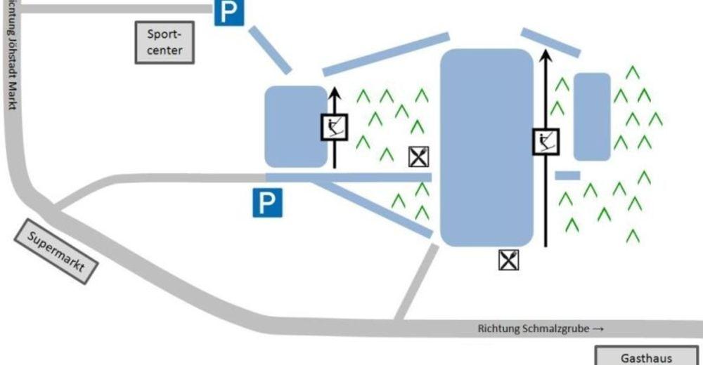 Planul pistelor Zonă de schi am Gründelwald / Jöhstadt
