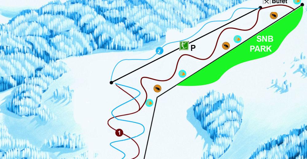 План лыжни Лыжный район Košútka - Hriňová