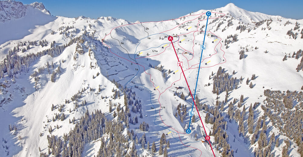 Piste map Ski resort Bergwelt Hahnenkamm