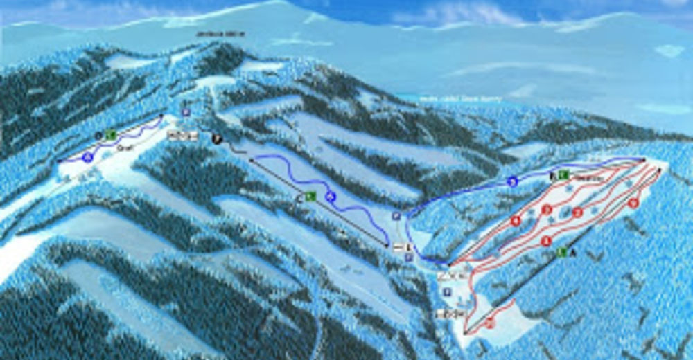 Piste map Ski resort Grúň
