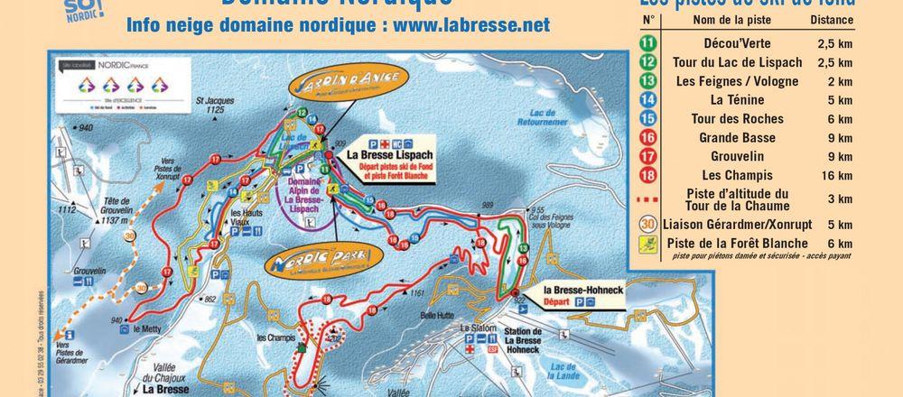 Loipenplan La Bresse - Lispach