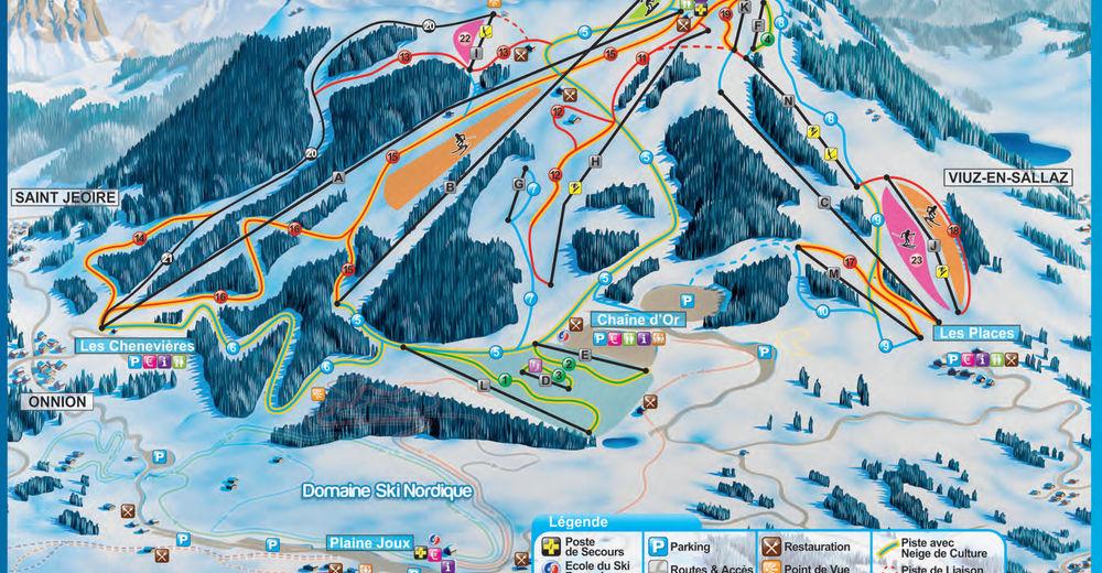 Pistenplan Skigebiet Les Brasses