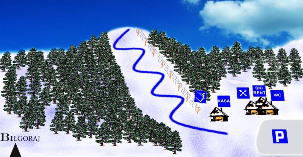 Piste map Ski resort Złoty Stok