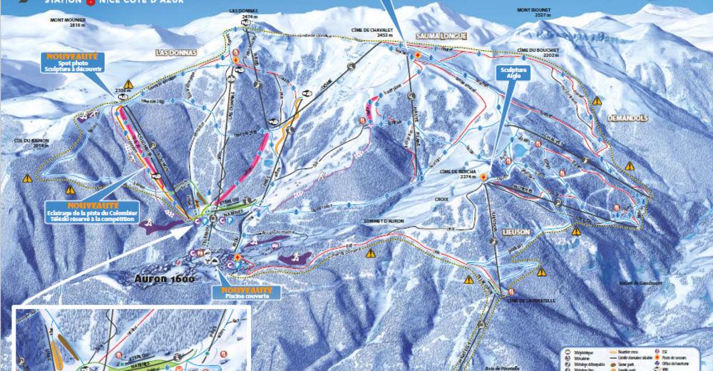 Plan de piste Station de ski Auron