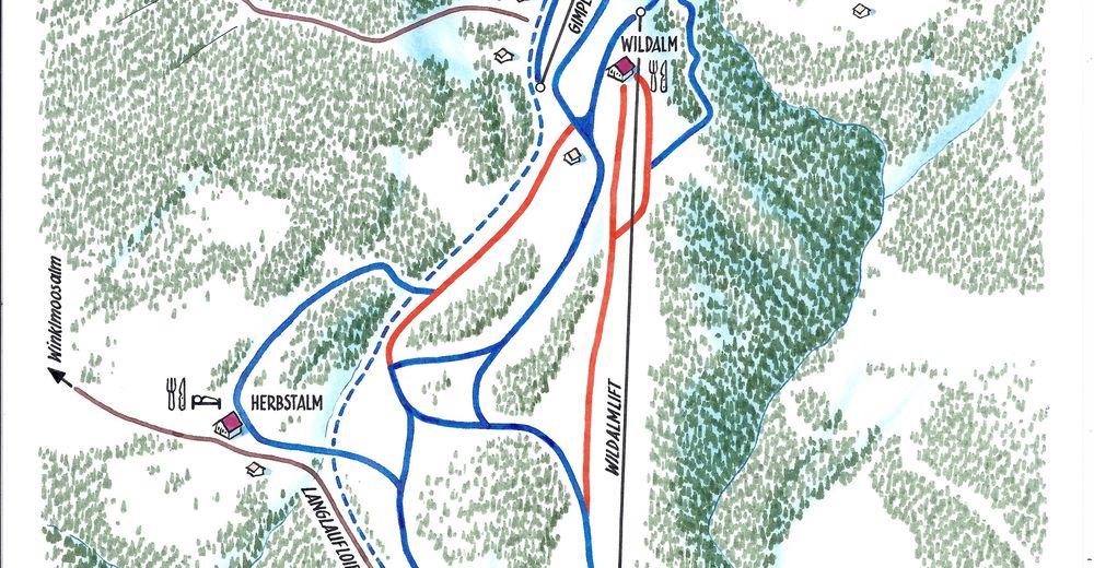 Piste map Ski resort Skilifte Unken / Heutal
