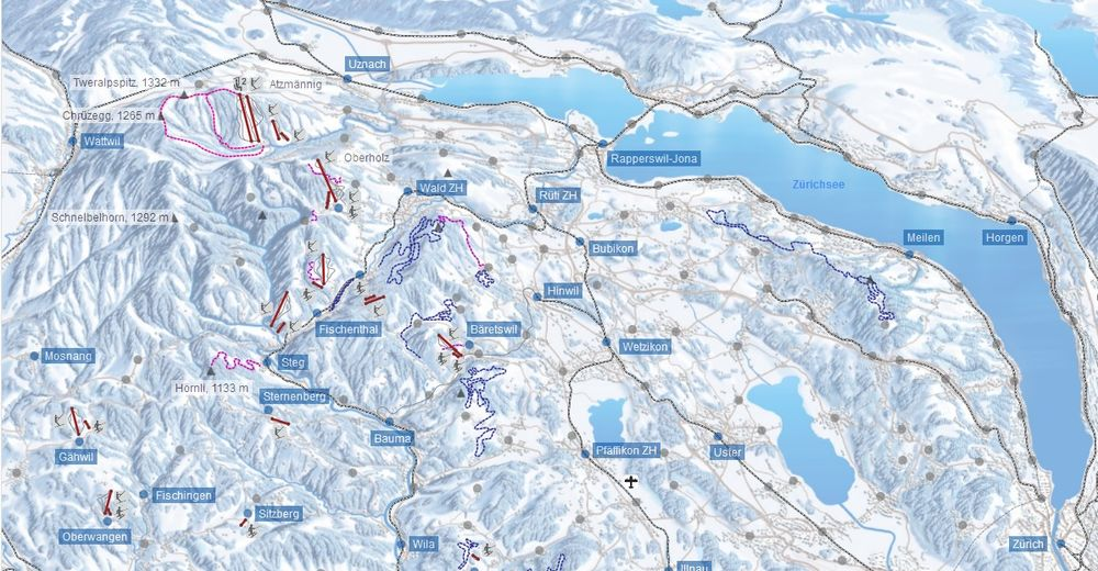 Piste map Ski resort Sternenberg