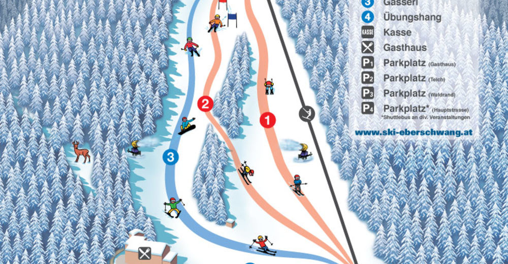 Pisteplan Skigebied Eberschwang