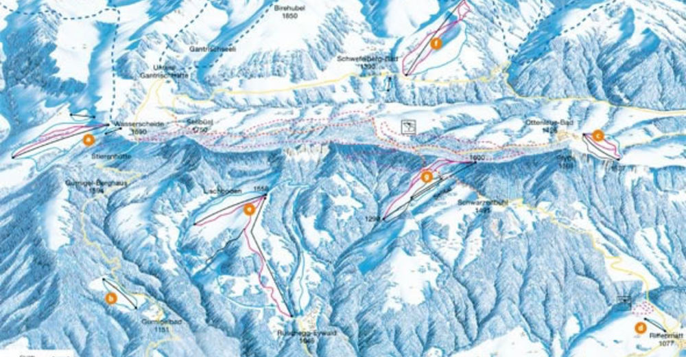 Piste map Ski resort Ottenleuebad