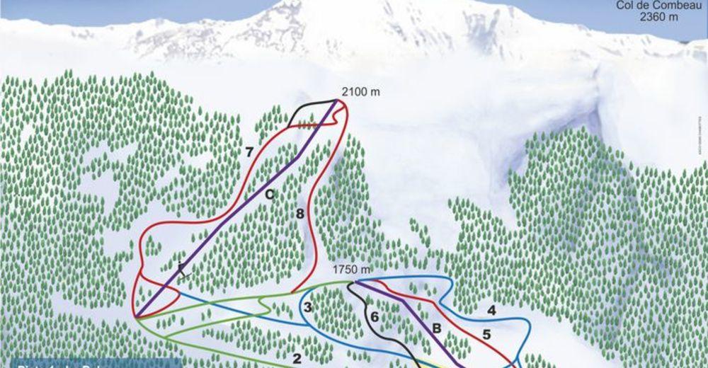 Plan skijaških staza Skijaško područje Serre-Eyraud / Orcières