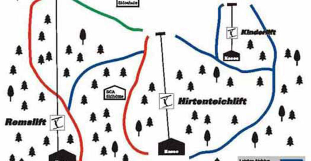 Piste map Ski resort Aalen - Hirtenteich