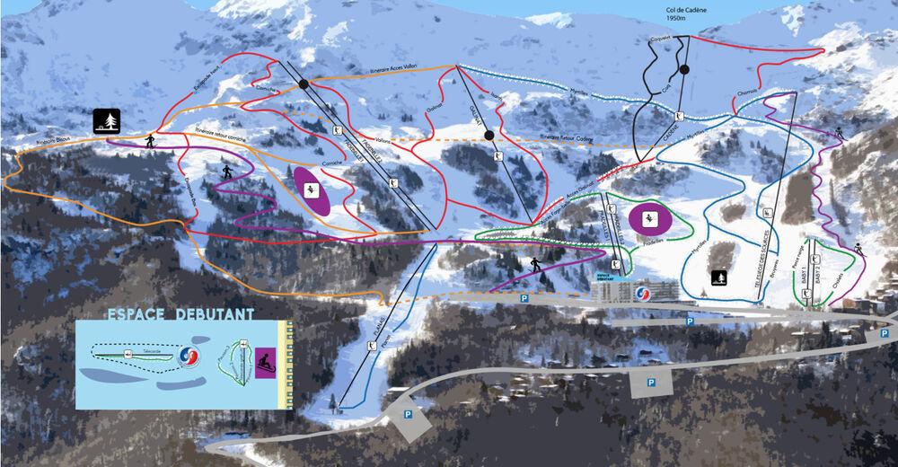 Piste map Ski resort Monts d'Olmes