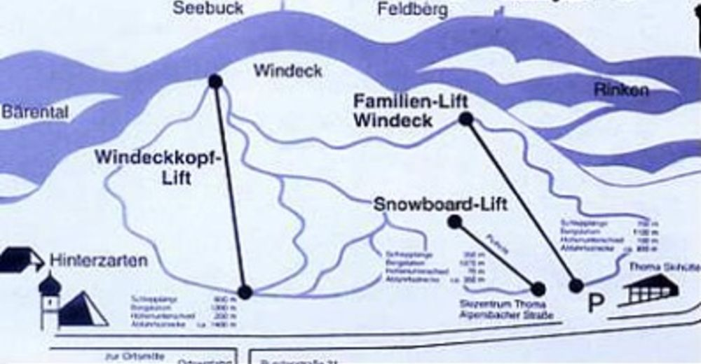 Plan de piste Station de ski Hinterzarten Thoma